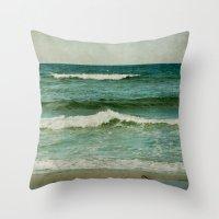 emerald Throw Pillows featuring emerald by Iris Lehnhardt