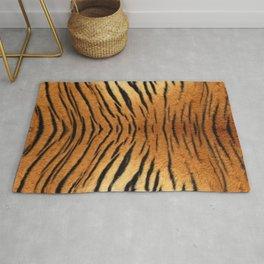 Beautiful tiger fur animal print - colorful tiger skin texture with orange, beige, yellow and black Rug