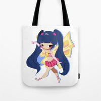 musa Tote Bags featuring Musa by gillyfleurillustration