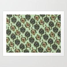 Artichoke Pattern Art Print