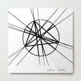 Euler line Metal Print