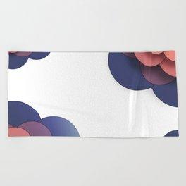 Floral // Border Beach Towel