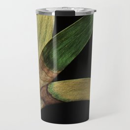 Three Eucalyptus Leaves: A Minimalist Perspective Travel Mug