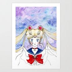 sailor moon crystal Art Print