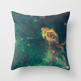 ALTERED Carina Nebula Throw Pillow