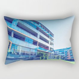 Apartment residential buildings with outdoor facilities Rectangular Pillow