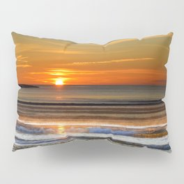 Silver and Gold Sunset Pillow Sham