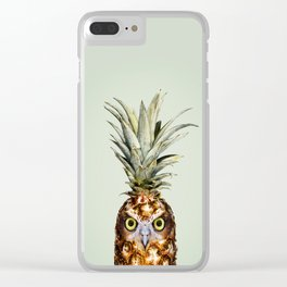 PINEAPPLE OWL Clear iPhone Case