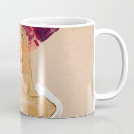 "Egon Schiele ""Squatting Female Nude"" Coffee Mug"