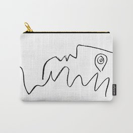 Pablo Picasso Face Looking Up Line Artwork For Prints Tshirts Posters Bags Men Women Youth Carry-All Pouch