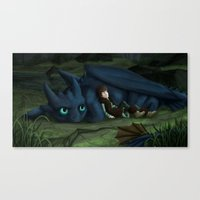 how to train your dragon Canvas Prints featuring How to train your Dragon by amanda.scopel