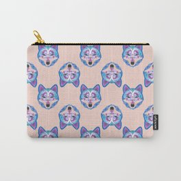 Henna Wolf Pattern Carry-All Pouch