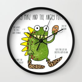 Spiky Mike Wall Clock
