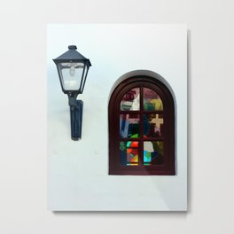 The Lantern and the Window Metal Print