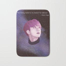 BTS Jin Galaxy drawing Bath Mat