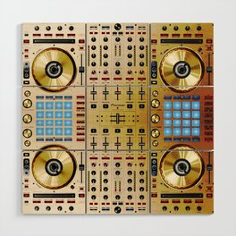 DDJ SX N In Limited Edition Gold Colorway Wood Wall Art