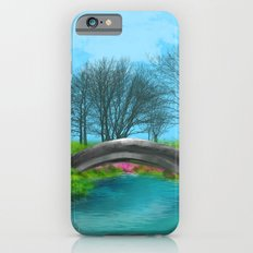 Landscape River/ Lake and Pink FLowers Slim Case iPhone 6s