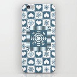 Winter Snowflake Christmas Pattern iPhone Skin