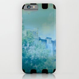 House panorama with Film Perforation in Kyiv, Ukraine iPhone Case
