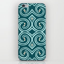 Svortices (Blue) iPhone Skin