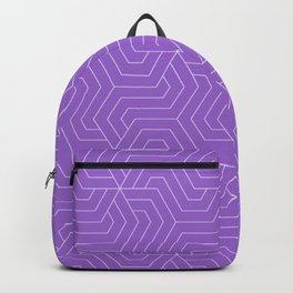 Amethyst - violet - Modern Vector Seamless Pattern Backpack