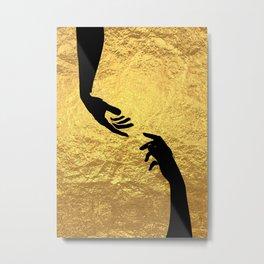 Helping Hand Metal Print