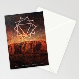 Solar Plexus Chakra of the Earth - Uluru Stationery Cards