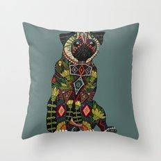 pug love juniper Throw Pillow