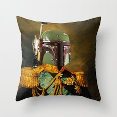Portrait of Boba Fett Throw Pillow