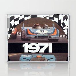 Vintage 1971 racing Poster Laptop & iPad Skin