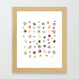 animal crossing pattern Framed Art Print
