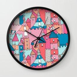 Castle Town Wall Clock