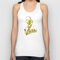 willy wonka Tank Tops featuring W gold by Buby87