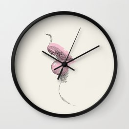 Abstraction_Sexy_Lip_Love_Kisses_Art_Minimalism_001 Wall Clock
