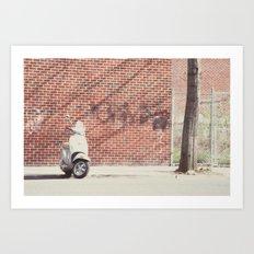 on the go:: brooklyn Art Print