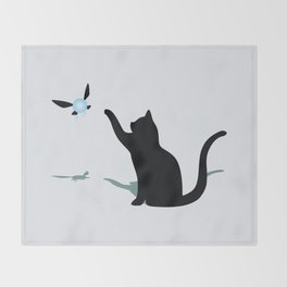 Cat and Navi Throw Blanket
