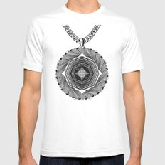 Spirobling VIII MEDIUM White Mens Fitted Tee