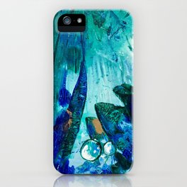 Bright Ocean Spaces, Tiny World Collection iPhone Case