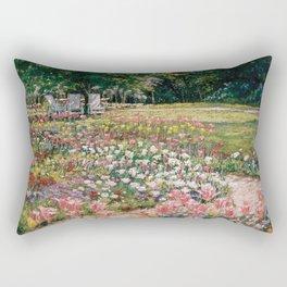 Favorite Spot — Garden Painting Rectangular Pillow