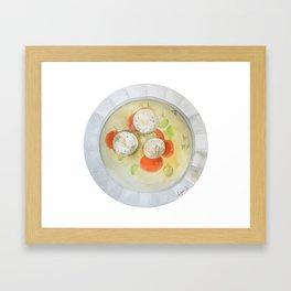 Matzo Ball Soup Framed Art Print