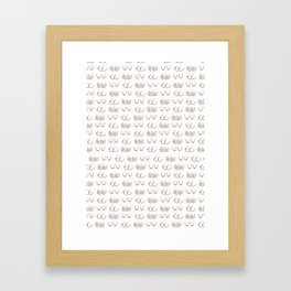 Boob Pattern Framed Art Print