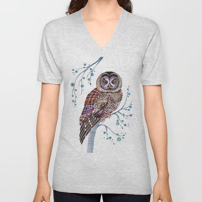 lacy owl Unisex V-Neck