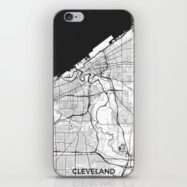 Cleveland Map Gray iPhone Skin