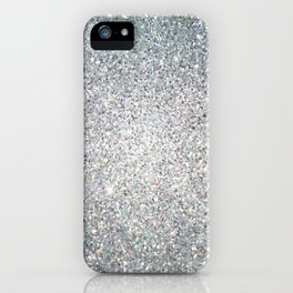 Diamond White Sparkling Jewels Pattern iPhone Case