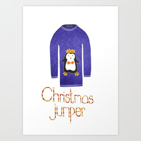 Christmas jumper Art Print