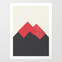 Volcano Pastel Mountains II Art Print