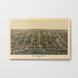 Map of Alexandria 1863 Metal Print