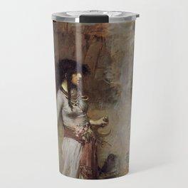 The Magic Circle, John William Waterhouse. Travel Mug