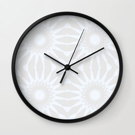 Gray pinwheel Flower Wall Clock