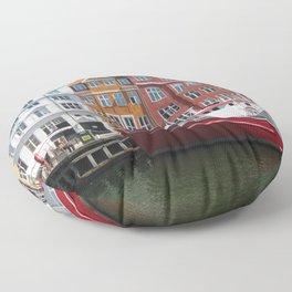 Nyhavn, Copenhagen Floor Pillow